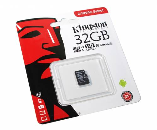 Карта micro SDHC Kingston 32Gb 10 class 80 MB/s